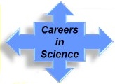 Careers in science arrows graphic
