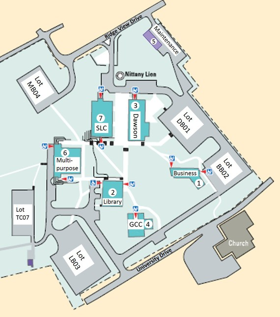 Campus Map Penn State Scranton