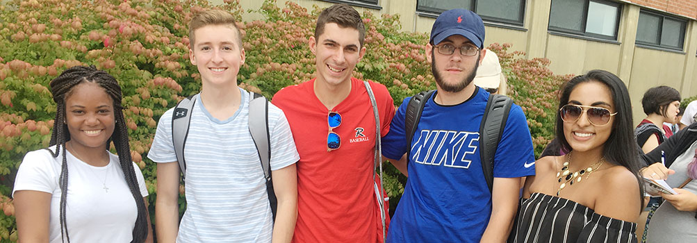 five students meet at Penn State Scranton admissions event