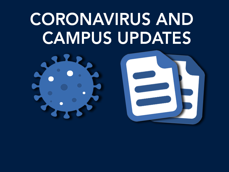 graphic of coronavirus and info sheets