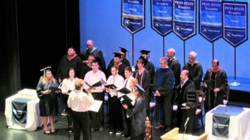Penn state scranton's rocktet musical group
