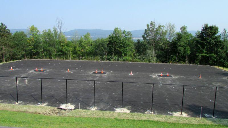 Flex court under construction