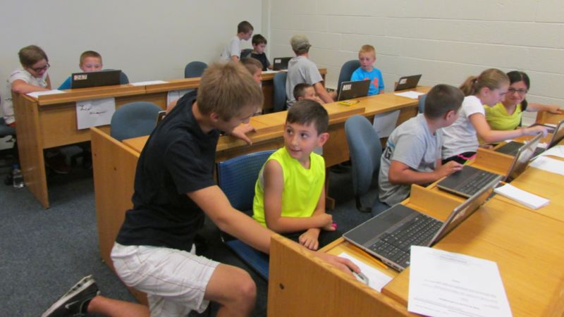 Students attend web animations camp at Worthington Scranton.