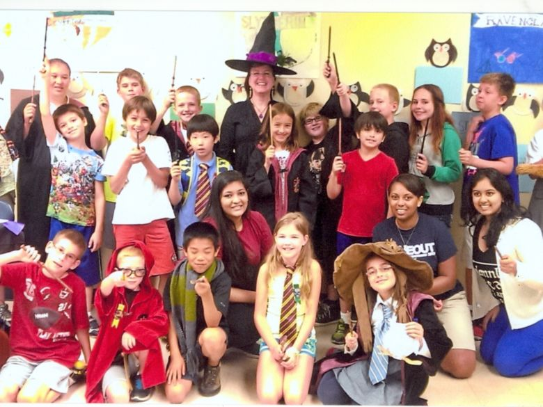 Student wizards at youth camp
