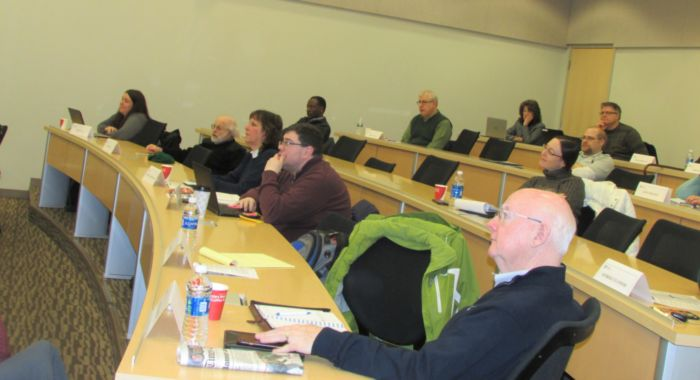 Faculty attending development day event