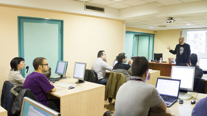 classroom full of adult learners