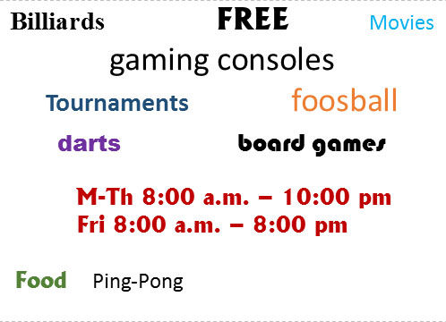 Campus game room activities