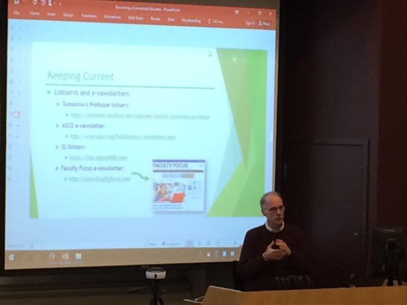 M. Choman presenting
