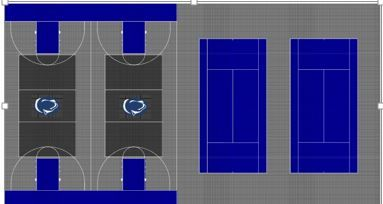 Proposed Flex Court for Athletic Renovation