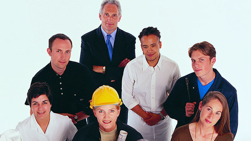 Group of seven industry focused professional people.