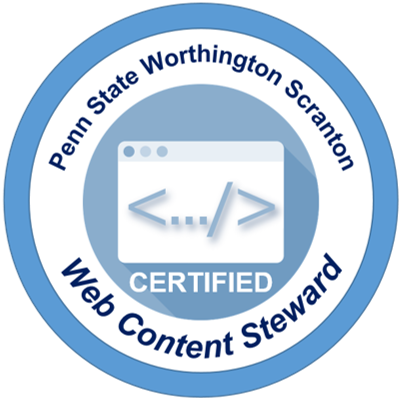 Web Steward badge graphic