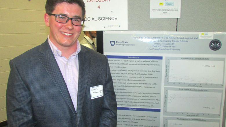 McKenna at research fair