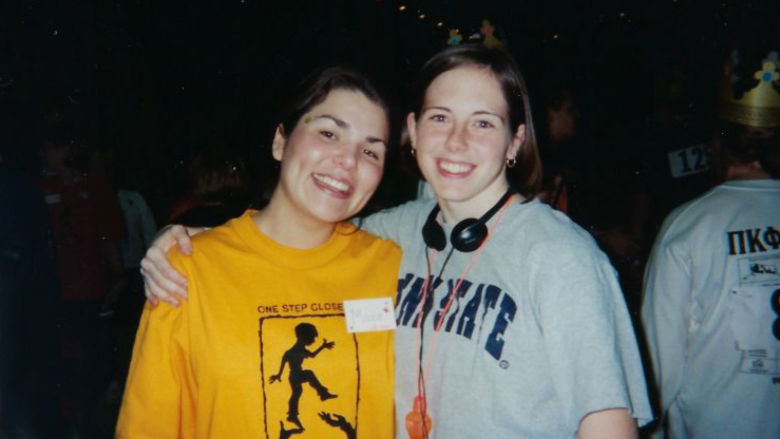 Julie Bialkoski and a friend at THON