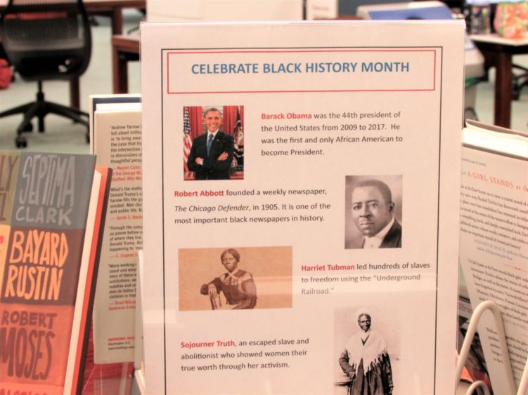 display and schedule of black history month events